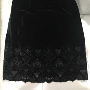 Tahari Black Velvet Dress